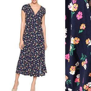 GAP Floral Wrap Midi Dress